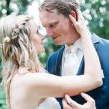 romantische Hochzeitsfotografie Natur Wald